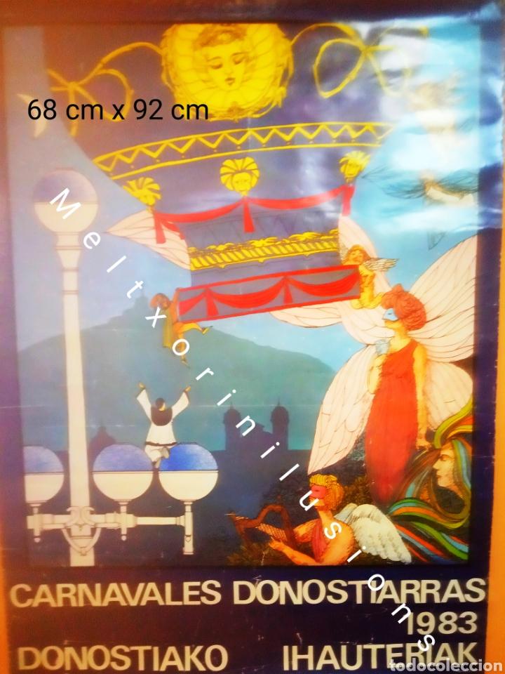 CARTEL ORIGINAL CARNAVALES DE DONOSTI 1983 (68CM X 92CM) (Coleccionismo - Carteles Gran Formato - Carteles Ferias, Fiestas y Festejos)