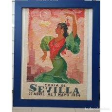 Carteles Feria: CARTEL FERIA SEVILLA 1954 ORIGINAL. Lote 182029871