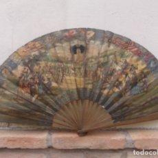 Carteles Feria: MUY ANTIGUO ABANICO DE PAPEL DE LA PRIMERA FERIA DE SEVILLA DE 1847. Lote 182844725