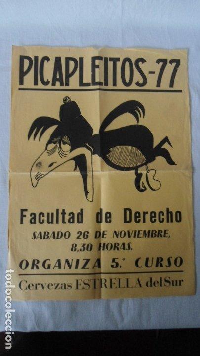 CARTEL FIESTA UNIVERSITARIO DE DERECHO 1977 (Coleccionismo - Carteles Gran Formato - Carteles Ferias, Fiestas y Festejos)