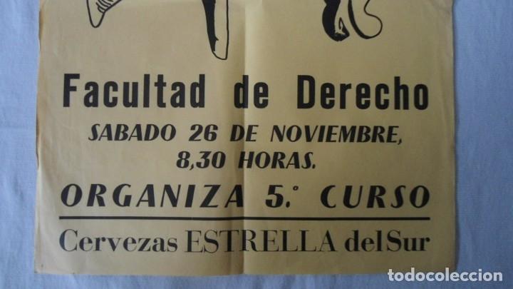 Carteles Feria: CARTEL FIESTA UNIVERSITARIO DE DERECHO 1977 - Foto 3 - 182898621
