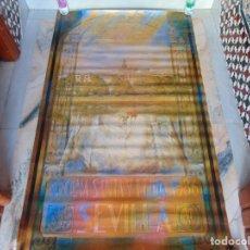 Carteles Feria: GRAN CARTEL SEMANA SANTA Y FERIA DE SEVILLA AÑO 1986 SANTIAGO DEL CAMPO MIDE 156 X 96 CM. Lote 182977181