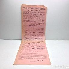 Carteles Feria: CARTEL TEATRO CASA DEL PUEBLO DE CARDONA - AÑO 1916 - IMPRENTA RUBIRALTA MANRESA . Lote 182982443