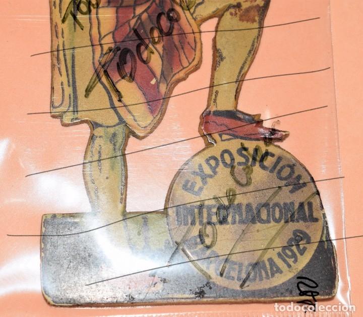 Carteles Feria: DISPLAY TROQUELADO CARTON EXPOSICION INTERNACIONAL DE BARCELONA 1929 - Foto 3 - 182985950