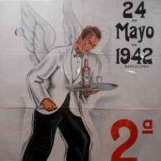Carteles Feria: CARTEL 2ª CARRERA DE CAMAREROS. 24 DEMAYO DE 1942, BARCELONA. 5/1942.. Lote 183083406