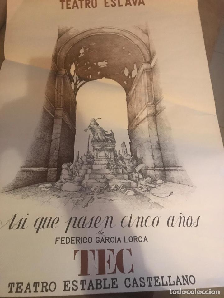 CARTEL TEATRO ESLAVA FEDERICO GARCÍA LORCA (Coleccionismo - Carteles Gran Formato - Carteles Ferias, Fiestas y Festejos)