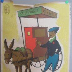 Carteles Feria: CARTEL FIESTAS SAN ISIDRO MADRID 1961 TEODORO DELGADO MIDE APROX 69 X 99 CMS CF65. Lote 183704872
