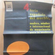 Carteles Feria: CARTEL 4ª FERIA ESPAÑOLA DEL MUEBLE VALENCIA 1966 BARTUAL CF73. Lote 183707790