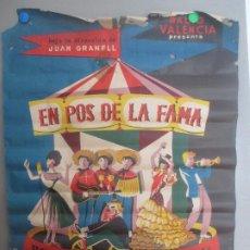 Carteles Feria: CARTEL EN POS DE LA FAMA FESTIVAL 1961 CIRCO LITOGRAFIA CF77. Lote 183713536