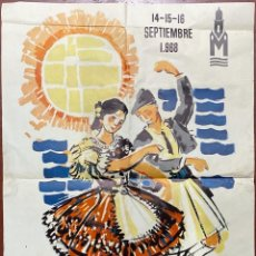 Carteles Feria: I FESTIVAL INTERNATIONAL DU FOLKLORE MEDITERRANEO. MURCIA, 1968. GRAFICAS BELKROM.. Lote 183907215