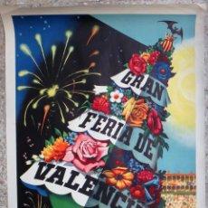 Carteles Feria: CARTEL PUBLICIDAD FERIA JULIO DE VALENCIA 1956 LITOGRAFIA PERIS 70 X 100 CMS. ORIGINAL , PF. Lote 184126908