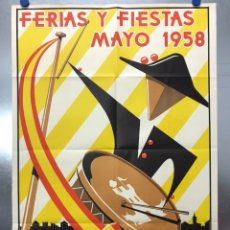 Carteles Feria: CARTEL FERIA Y FIESTAS - TALAVERA DE LA REINA, TOLEDO - LITOGRAFIA - AÑO 1958, E. A. CHICOTE. Lote 184460886