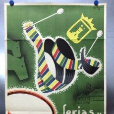 Carteles Feria: CARTEL FERIA Y FIESTAS - TALAVERA DE LA REINA, TOLEDO - LITOGRAFIA - AÑOS 1950, ARTURO M.G.. Lote 197475553