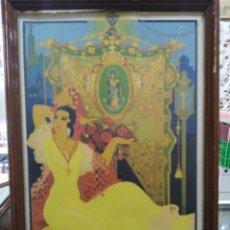 Carteles Feria: CARTEL SEVILLA 1940 - FIESTAS PRIMAVERALES - SEMANA SANTA Y FERIA DE ABRIL - ORIGINAL - 27 X 40 CM. Lote 185966466
