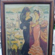 Carteles Feria: CARTEL SEVILLA 1941 - FIESTAS PRIMAVERALES - SEMANA SANTA Y FERIA DE ABRIL - ORIGINAL - 27 X 40 CM. Lote 185966892
