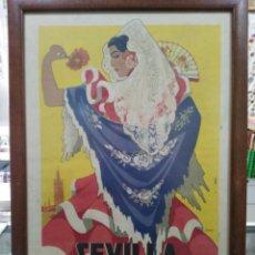 Carteles Feria: CARTEL SEVILLA - FERIA DE ABRIL Y FIESTAS PRIMAVERALES 1953 - ORIGINAL - 33 X 49 CM. Lote 185967612