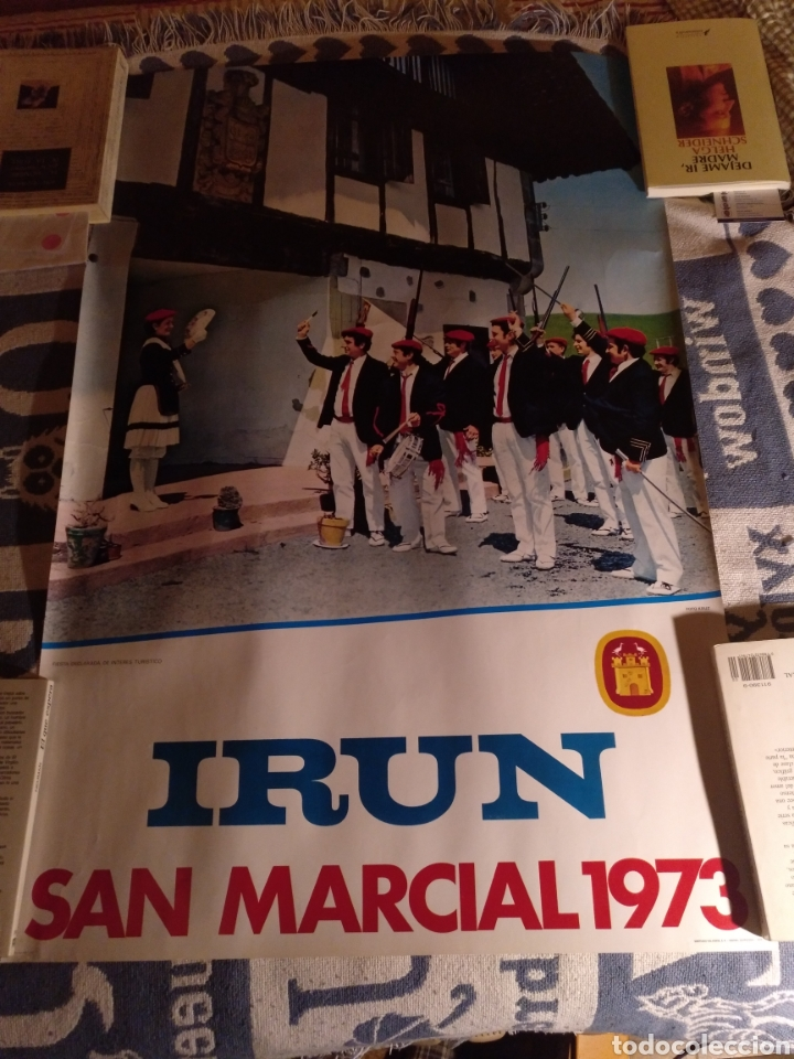 IRÚN, SAN MARCIAL 1973, CARTEL ANUNCIADOR 85X56 (Coleccionismo - Carteles Gran Formato - Carteles Ferias, Fiestas y Festejos)