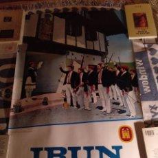 Carteles Feria: IRÚN, SAN MARCIAL 1973, CARTEL ANUNCIADOR 85X56. Lote 188596393