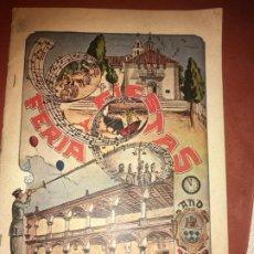 Carteles Feria: ALBACETE,VILLARROBLEDO FERIA Y FIESTAS 1950, PROGRAMA DE 32 PÁGS. BIEN CONSERVADO .VILR. Lote 189115151