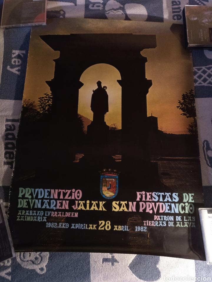 CARTEL FIESTAS DE SAN PRUDENCIO 1982 (Coleccionismo - Carteles Gran Formato - Carteles Ferias, Fiestas y Festejos)
