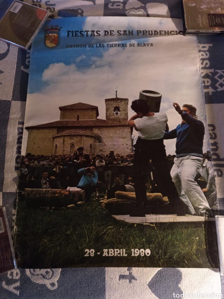 CARTEL FIESTAS DE SAN PRUDENCIO 1980 (Coleccionismo - Carteles Gran Formato - Carteles Ferias, Fiestas y Festejos)
