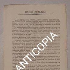 Carteles Feria: CARTEL DEL CARNAVAL DE CADIZ 1821. Lote 190181531