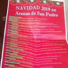 Carteles Feria: ARENAS DE SAN PEDRO - CARTEL ACTIVIDADES NAVIDAD 2019 - CURIOSO - A3. Lote 190929833