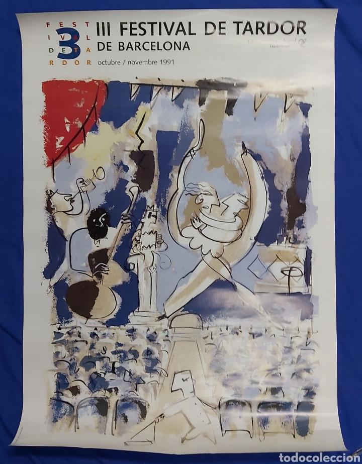 CARTEL III FESTIVAL DE TARDOR BARCELONA 1991 (Coleccionismo - Carteles Gran Formato - Carteles Ferias, Fiestas y Festejos)