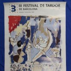 Carteles Feria: CARTEL III FESTIVAL DE TARDOR BARCELONA 1991. Lote 192284705