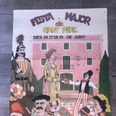 Carteles Feria: CARTEL FESTA MAJOR DE SANT PERE. Lote 193079368