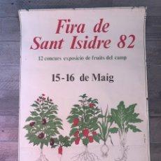 Carteles Feria: CARTEL FIRA DE SAN ISIDRE. Lote 193079705