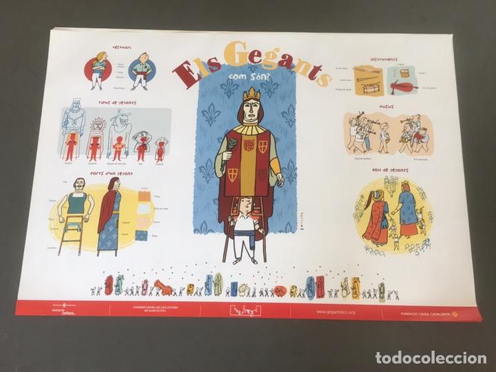 CARTEL ELS GEGANTS. COM SON? DIBUJOS GALLARDO (Coleccionismo - Carteles Gran Formato - Carteles Ferias, Fiestas y Festejos)