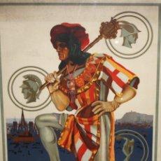 Carteles Feria: CARTEL - EXPOSICIÓN INTERNACIONAL DE BARCELONA - 1929 - ILUSTRADOR ROJAS - 97X68 CM.. Lote 194136625