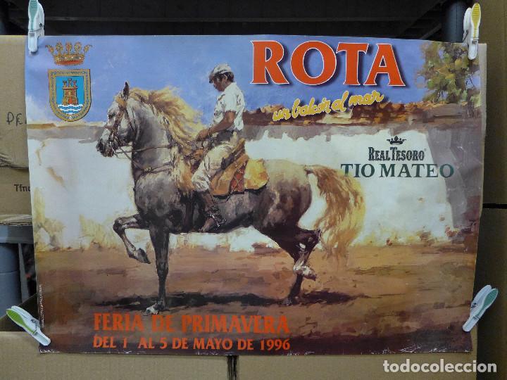 CARTEL DE LA FERIA DE PRIMAVERA DE ROTA UN BALCON AL MAR 1996 (Coleccionismo - Carteles Gran Formato - Carteles Ferias, Fiestas y Festejos)