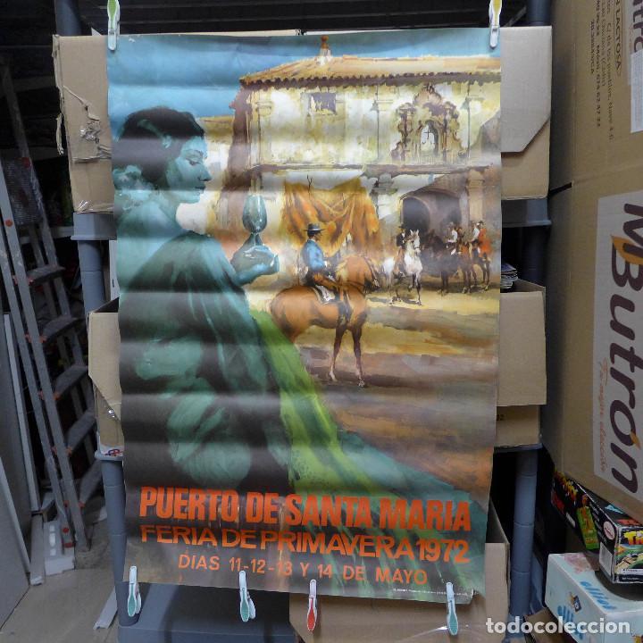 CARTEL DE LA FERIA DE PRIMAVERA EL PUERTO DE SANTA MARIA 1972 (Coleccionismo - Carteles Gran Formato - Carteles Ferias, Fiestas y Festejos)