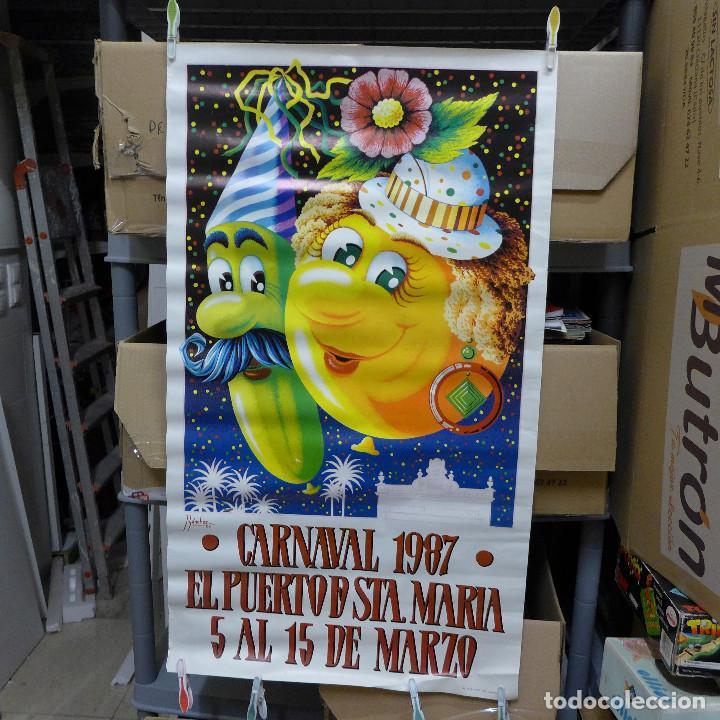CARTEL DEL CARNAVAL EL PUERTO DE SANTA MARIA 1987 (Coleccionismo - Carteles Gran Formato - Carteles Ferias, Fiestas y Festejos)