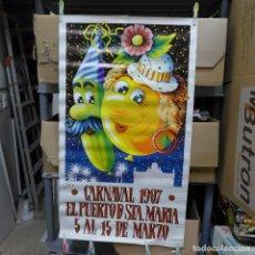 Carteles Feria: CARTEL DEL CARNAVAL EL PUERTO DE SANTA MARIA 1987. Lote 194248102