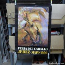 Carteles Feria: CARTEL DE LA FERIA DEL CABALLO JEREZ 1986. Lote 194248783