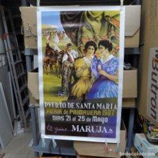 Carteles Feria: CARTEL DE LA FERIA DE PRIMAVERA EL PUERTO DE SANTA MARIA 1987. Lote 194289076