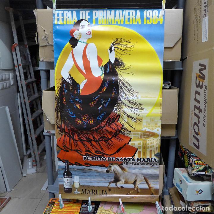 CARTEL DE LA FERIA DE PRIMAVERA EL PUERTO DE SANTA MARIA 1984 (Coleccionismo - Carteles Gran Formato - Carteles Ferias, Fiestas y Festejos)