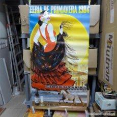 Carteles Feria: CARTEL DE LA FERIA DE PRIMAVERA EL PUERTO DE SANTA MARIA 1984. Lote 194291122