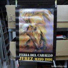Carteles Feria: CARTEL DE LA FERIA DEL CABALLO JEREZ 1986. Lote 194291965