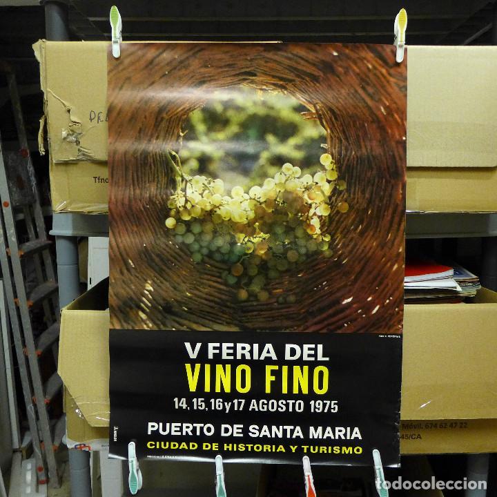 CARTEL DE LA V FERIA DEL VINO FINO EL PUERTO DE SANTA MARIA 1975 (Coleccionismo - Carteles Gran Formato - Carteles Ferias, Fiestas y Festejos)