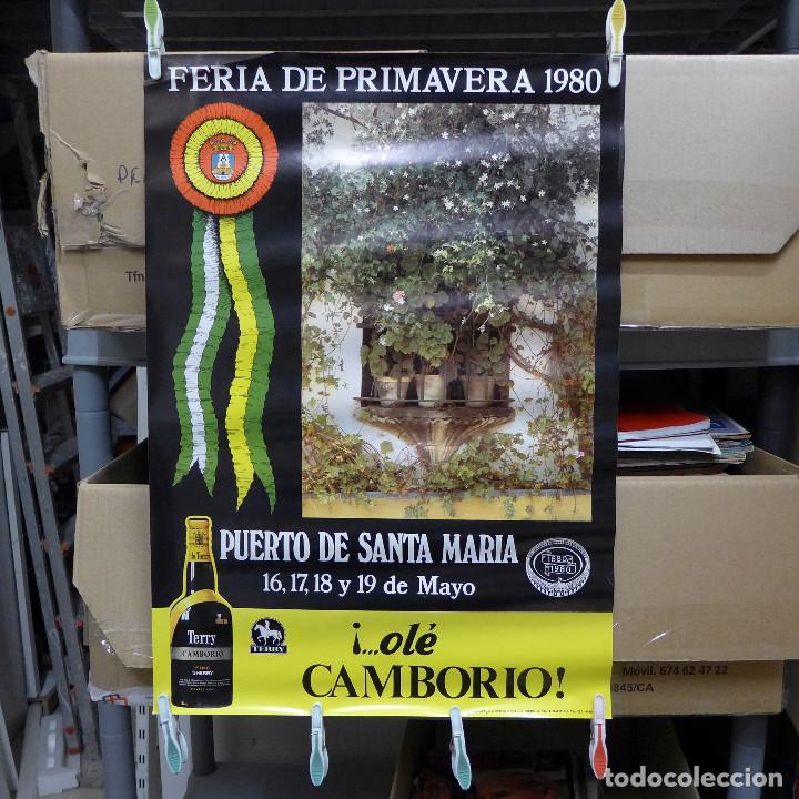 CARTEL DE LA FERIA DE PRIMAVERA EL PUERTO DE SANTA MARIA 1980 (Coleccionismo - Carteles Gran Formato - Carteles Ferias, Fiestas y Festejos)