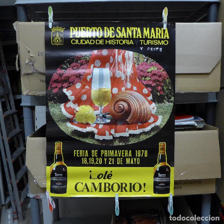 CARTEL DE LA FERIA DE PRIMAVERA EL PUERTO DE SANTA MARIA 1978 (Coleccionismo - Carteles Gran Formato - Carteles Ferias, Fiestas y Festejos)