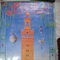 Carteles Feria: CARTEL FERIA SEVILLA 2005.68X96. Lote 194364841