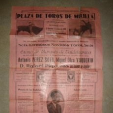 Carteles Feria: MELILLA PLAZA DE TOROS. Lote 194492157