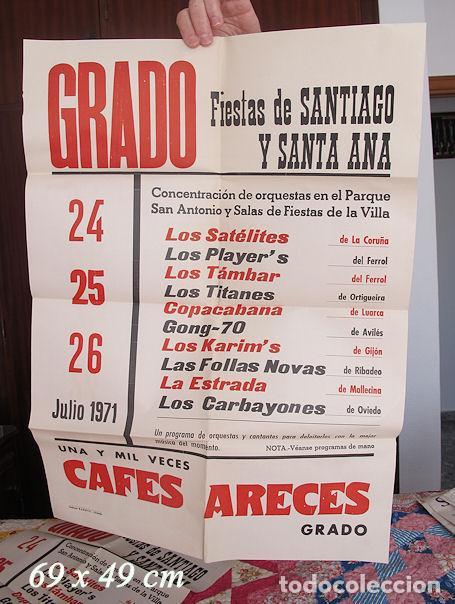 Carteles Feria: DOS CARTELES FIESTAS DE SANTIAGO GRADO ASTURIAS 1971 - Foto 2 - 194605993