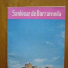 Carteles Feria: PROGRAMA DE FIESTAS SANLUCAR DE BARRAMEDA. Lote 194899210