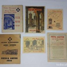 Carteles Feria: LOTE PROGRAMAS FESTAS SANTA COLOMA DE QUERALT ( 1950-1960 ). Lote 195105018